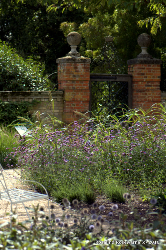 Entrance gate to the Pleasure grounds from walled garden