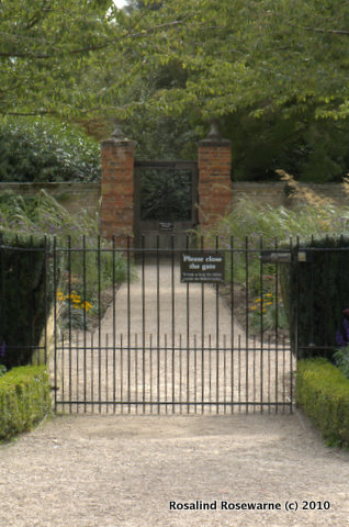 The gates of the veg garden barring all Rabbits!