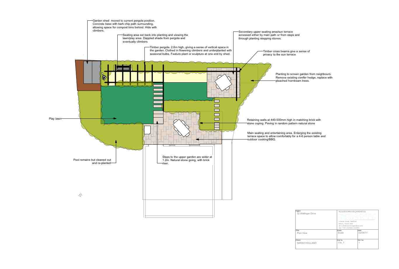 GArden Design Bedfordshire - Outline Plans