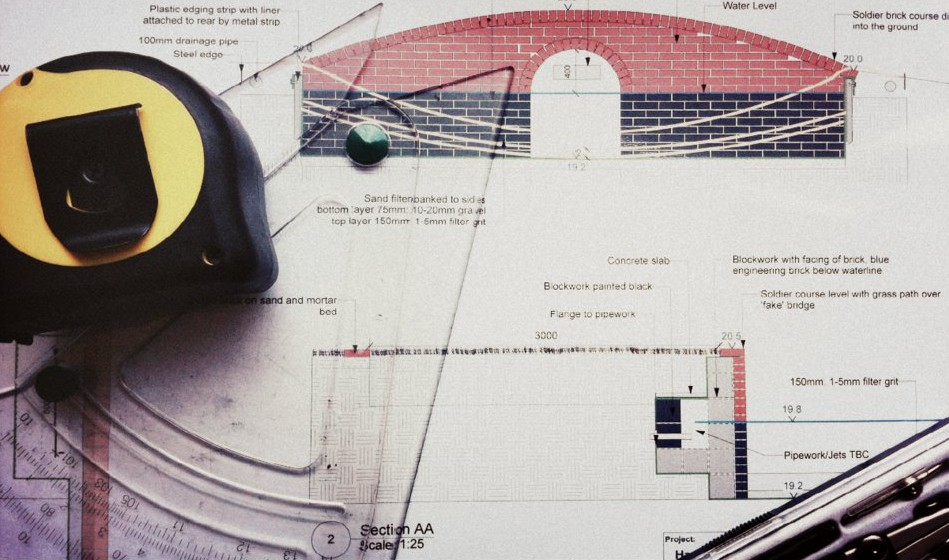 construction drawings for landscape tender documents
