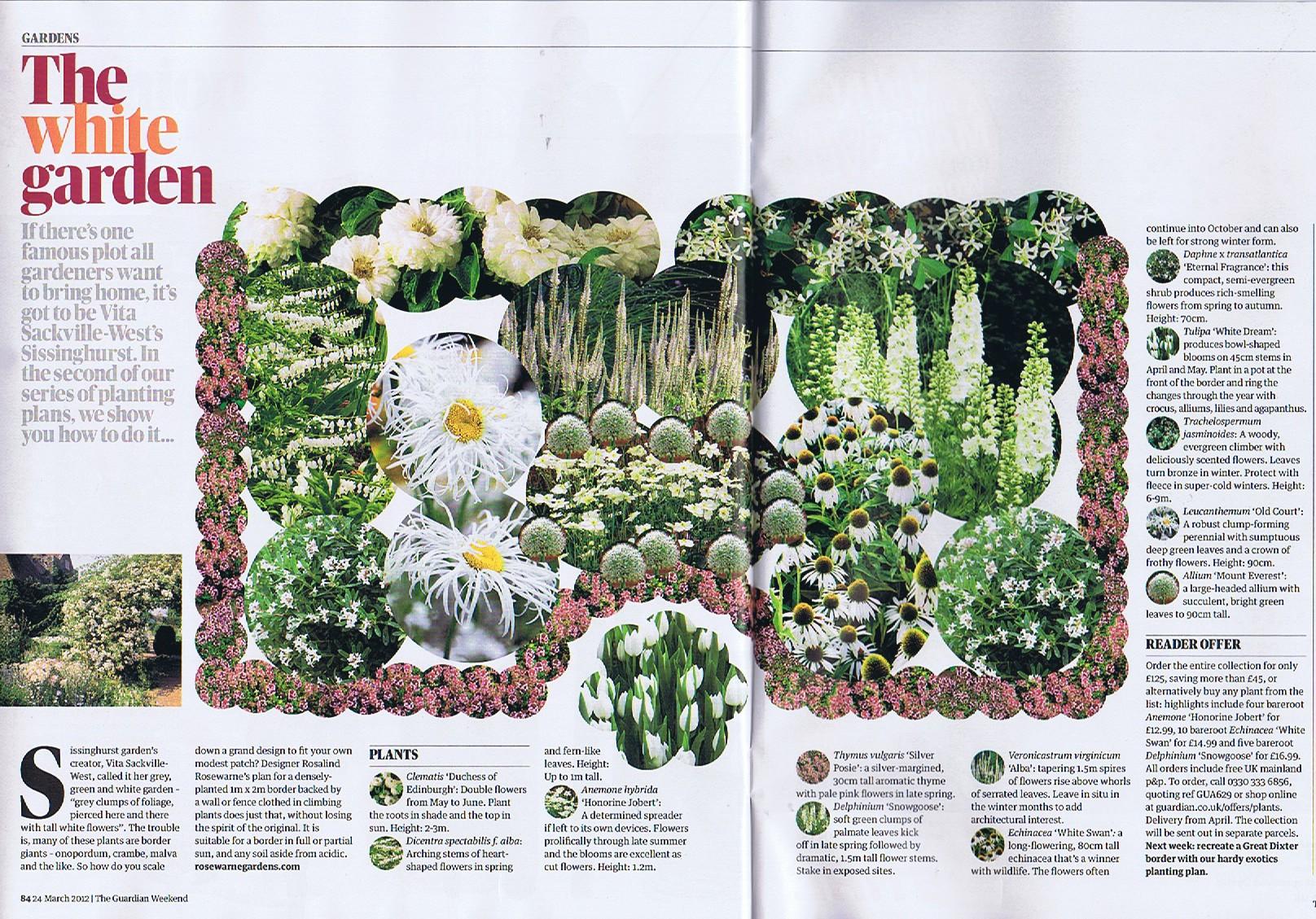 The White Garden - Guardian Weekend Magazine 24/03/2012