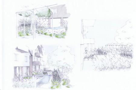 Rendering for 3D model illustrations of a garden design