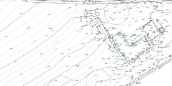 Section of detailed landscape site survey