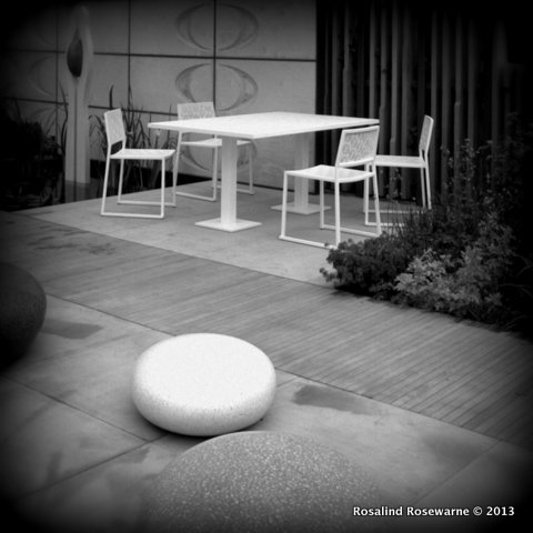 Love or hate that furniture, the garden was beautifully and thoughtfully executed.