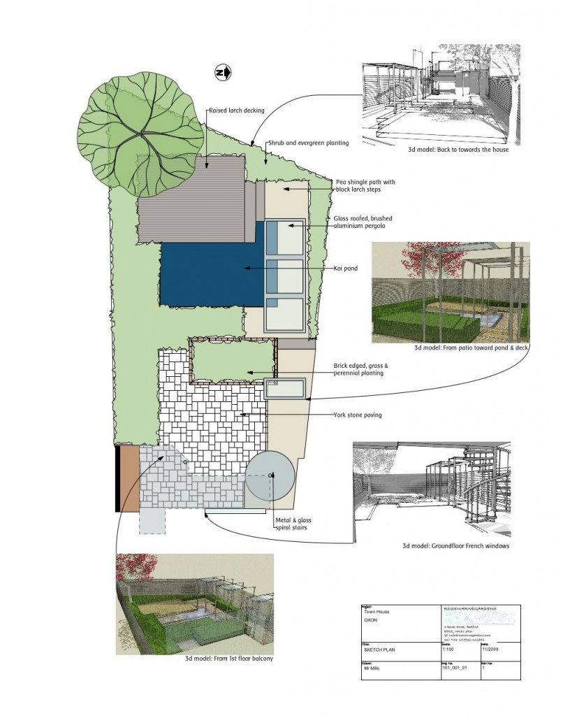 GARDEN DESIGN -OXFORD SKETCH PLAN