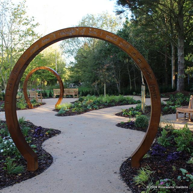 corten moongate memorial garden