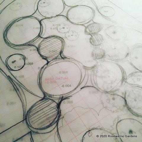 sketching garden design northamptonshire garden deisgn