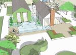 Norfolk garden - Natural pool and entertainment terrace