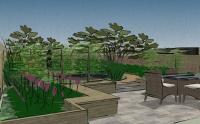 Town garden for a family - concept